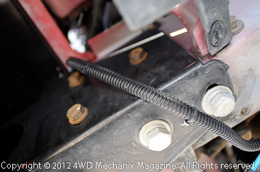 Careful wiring of the block heater cord
