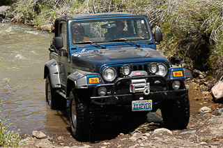 TJ Rubicon Edition with 4-inch lift suspension