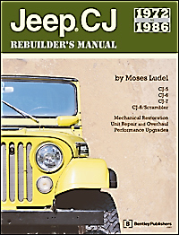 1972-86 CJ Jeep Rebuilder's Manual by Moses Ludel