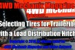 Tires for Trailering with a Load Distribution Hitch