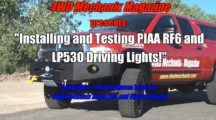 Driving Light Upgrade and Testing: PIAA RF6 and LP530 Series Lights