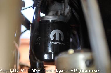 Mopar 05281090 oil filter mounted horizontally