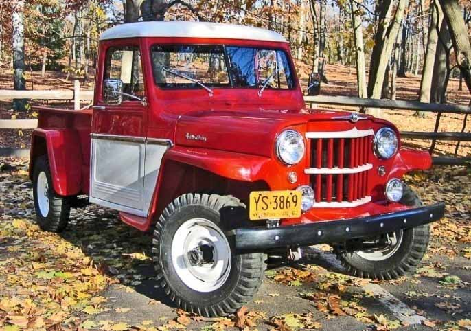 Beautifully restored Willys PIckup