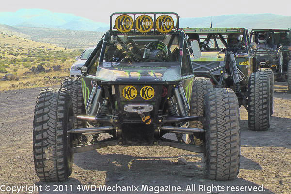 Start of 2011 Ultra4 Stampede Race near Reno, Nevada