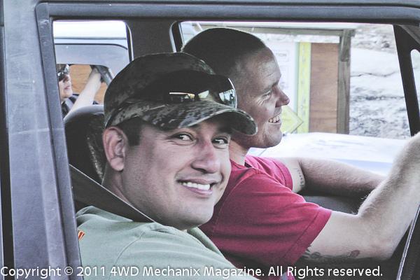 Veteran Steven Culp wheeled vet Dominic in an XJ Cherokee.