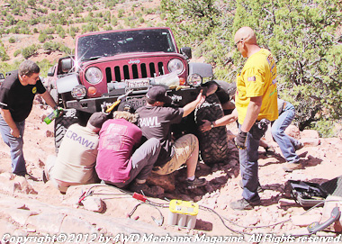 Warn Industries run at 2012 Moab Jeep Safari