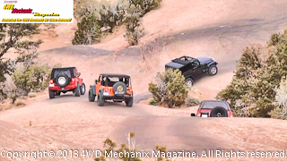 A caravan of 4x4s, the 2013 Bestop Moab Media Run!