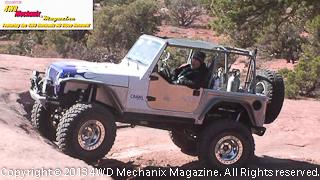 Crawl Jeep TJ Wrangler at Moab Warn run 2013