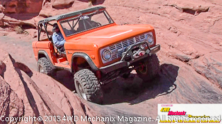 Vintage Ford Bronco at 2013 Warn Moab Media run