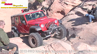 Warn's Jeep JK Wrangler driven by Jessi Combs at Moab 2013 Media Run
