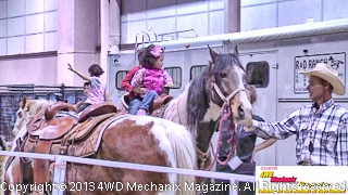Kids ride horses for free at the 2013 Reno Home & Garden Show!
