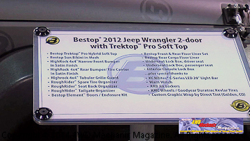 Bestop Trektop Pro and other products on a Jeep JK Wrangler