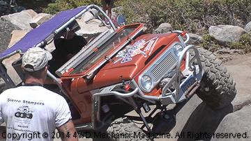Mark Elliott's PURPLETOP Garage Land Cruiser on the Rubicon Trail