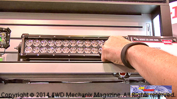 Auxiliary lighting interfaces with Warn ZEON Platinum winch.