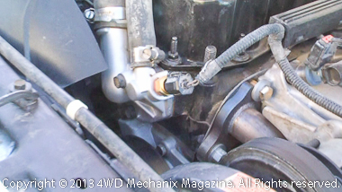 HESCO water pump and thermostat housing