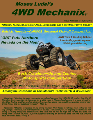 Click here for a download of the June 2010 issue of 4WD Mechanix Magazine. Allow time for downloading.