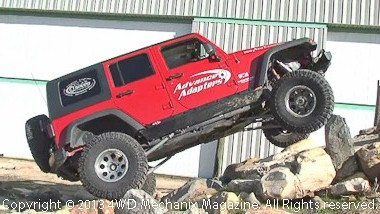 2007 Jeep JK Wrangler 4x4 with Rubicrawler on the rock testing grounds