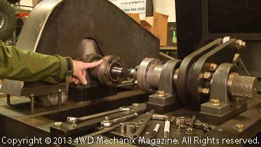 Custom machine for testing shaft integrity