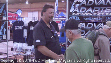 Steve Roberts greets Advance Adapters customers at 2015 Moab EJS!