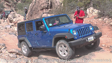 New Jeep JK Wrangler Unlimited drives Strike Ravine.