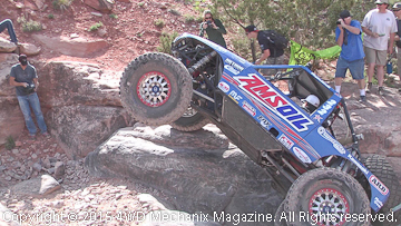 Brad Lovell demonstrates rock crawling at Area BFE.