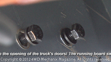 Bolts and washers fit the Rivet Nuts in the body.