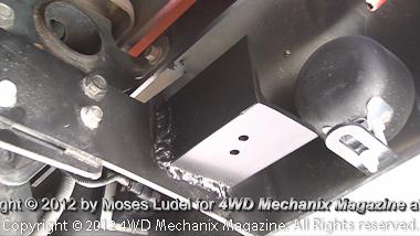 Fabricated mount on Buckstop bumper bracket