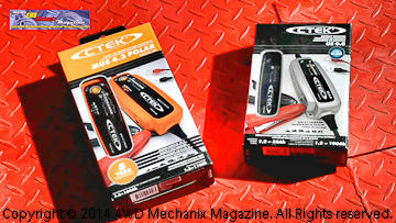 CTEK chargers for automotive and powersports use