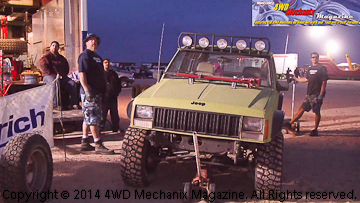 Tierra Del Sol and Jeep XJ Cherokee with full auxiliary lighting