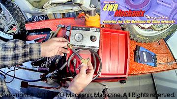 Custom homemade adapter for motorcycle leak down testing