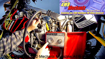 Running cylinder leak down test on Honda XR650R motorcycle engine