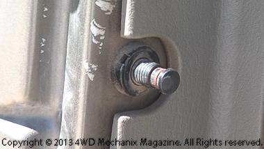 Door jamb dome light switch