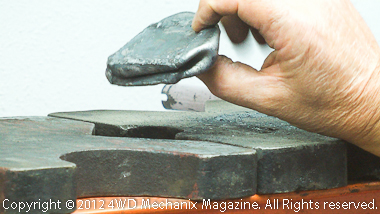 Collapsed cube reveals that welds all survived the test!