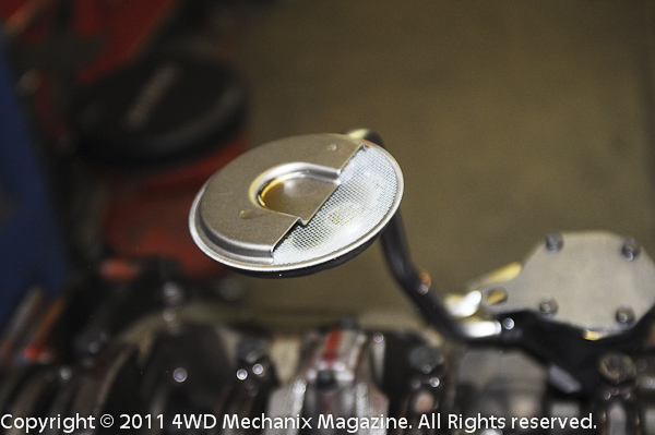 Melling high volume oil pump and new pickup screen help handle the oiling details.