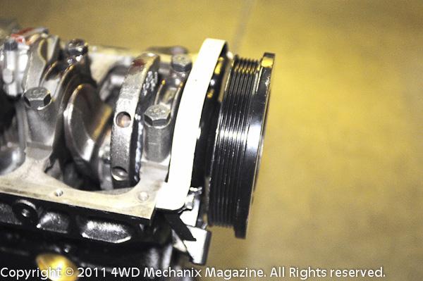 Crankshaft for 4.2L comes as short or long snout for use of V-belt or serpentine belt pulley.