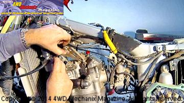 Remove engine support brackets