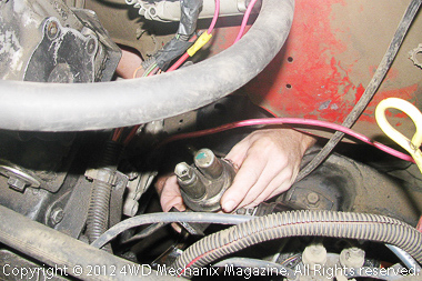 Removal of OEM mechanical fuel pump
