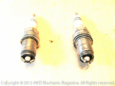 Reading the spark plugs