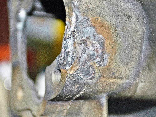 TIG process served best in this gray iron repair process