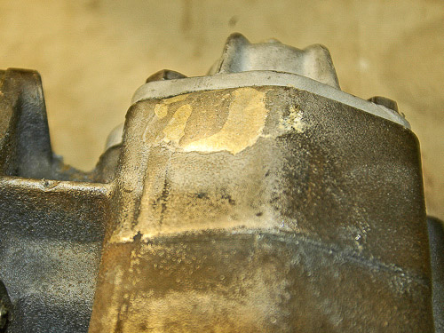 Finished repair with seal of high-tensile silver brazing