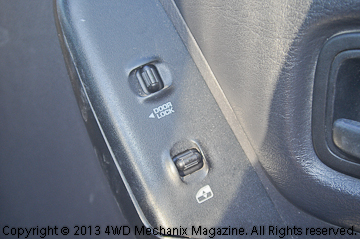 right front door switch panel for a jeep xj cherokee