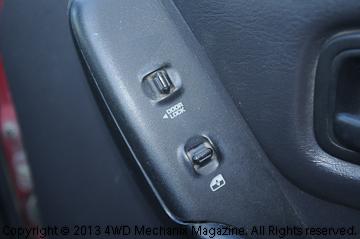 the power switch in the door handle panel