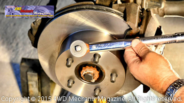 A professional grade front disc brake job on the Jeep XJ Cherokee.