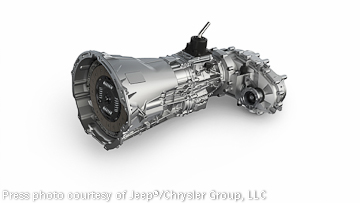 Latest A580 five-speed automatic transmission for the Wrangler and other Jeep models