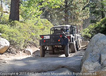 CJ Jeep along the Rubicon Trail in 2010