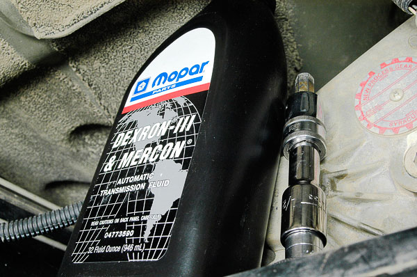 Use Mopar recommended lubricant.