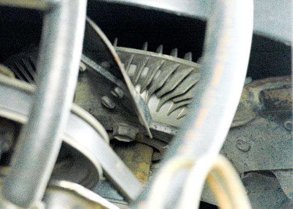 Fan and fan clutch assembly.