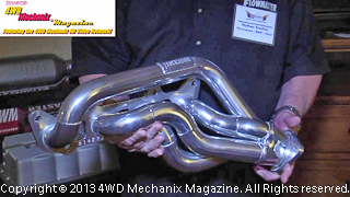 Flowmaster stainless steel header and exhaust mufflers