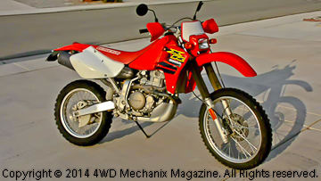 4WD Mechanix Magazine's Honda XR650R motorcycle with Michelin T63 dual-sport tires