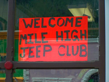 The Mile-Hi Jeep Club is welcome wherever it goes!